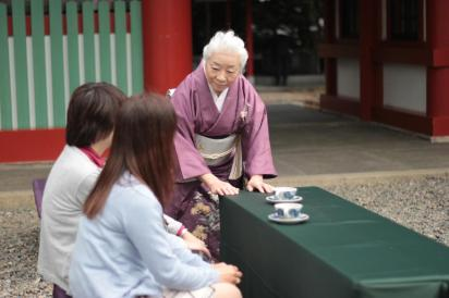 Traditional tea ceremony in Hie Shrine
