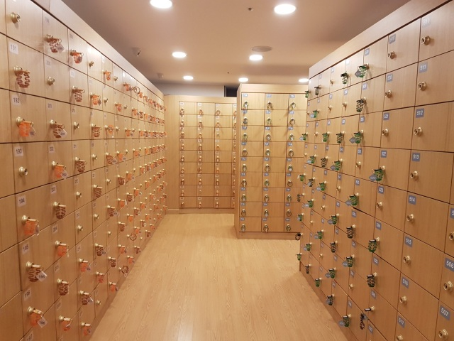 shoe locker room